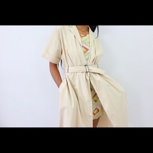 Out The Trenches Belted Dress  Jacket